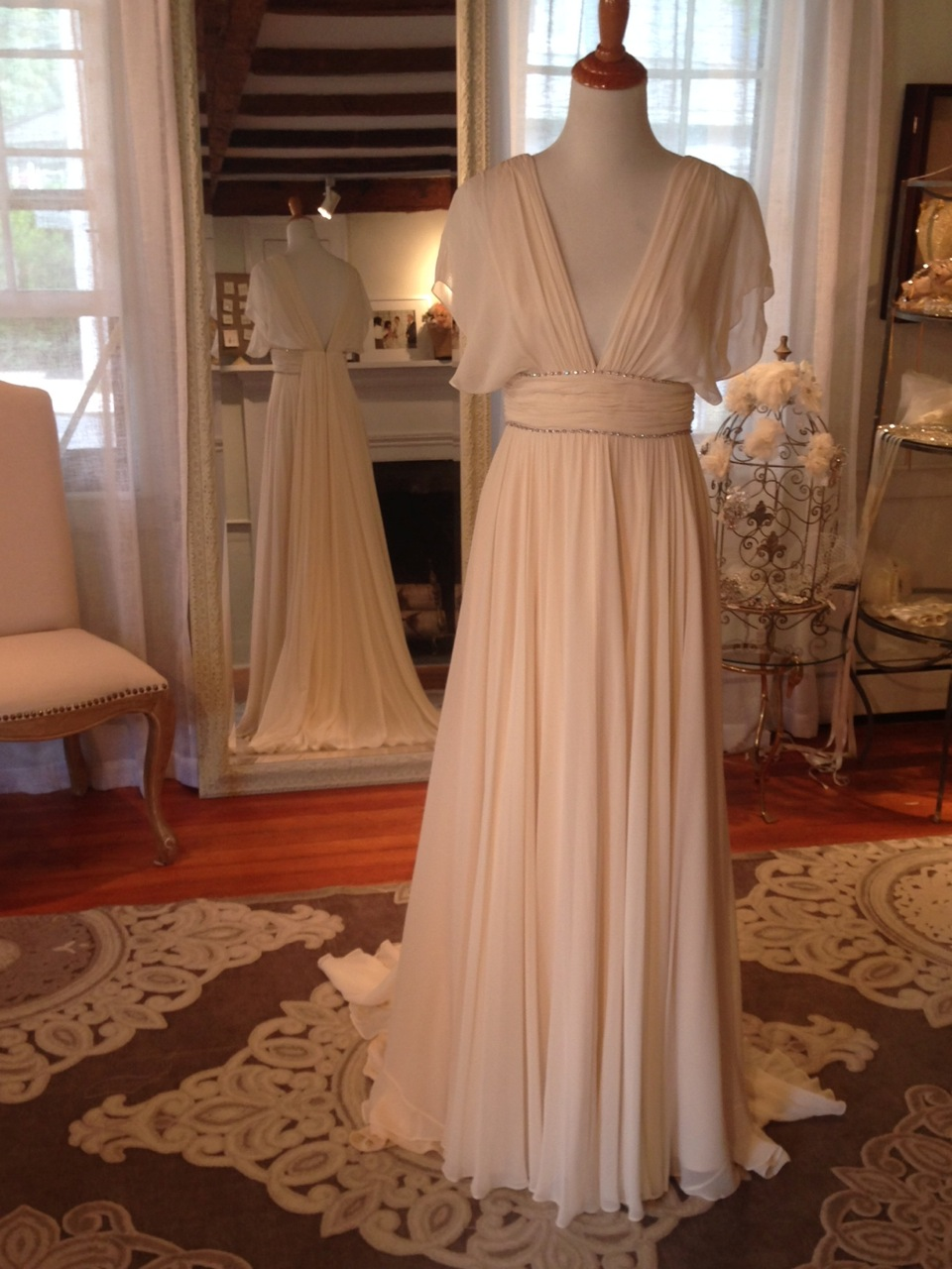 """Nina"" by Jenny Packham in buttermilk (we are in love with this warm, slightly blush tone!!)"