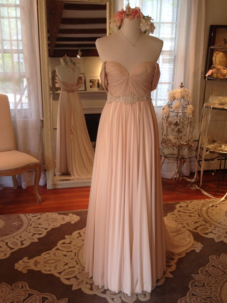 """Lafayette"" by Sarah Seven & Twigs and Honey Sash - how amazing is the blush and romantic sleeve?!"