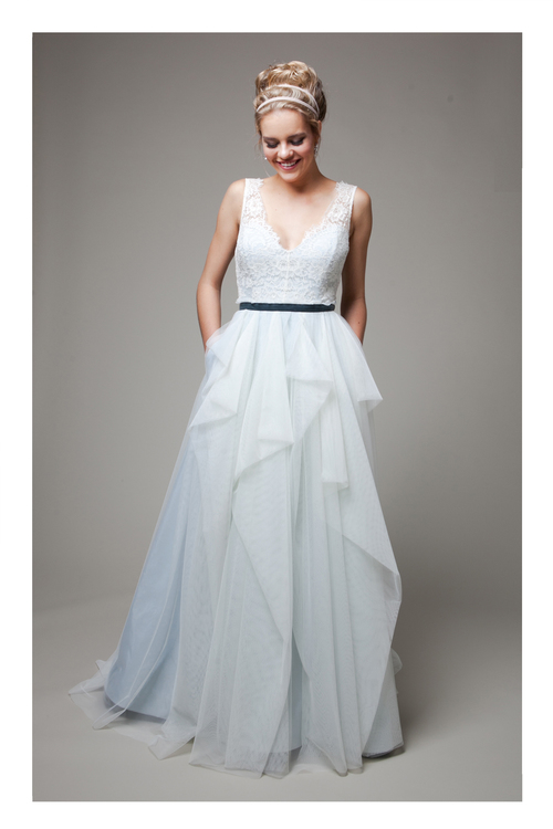 Rebecca Schoneveld - blue tulle skirt for the bride
