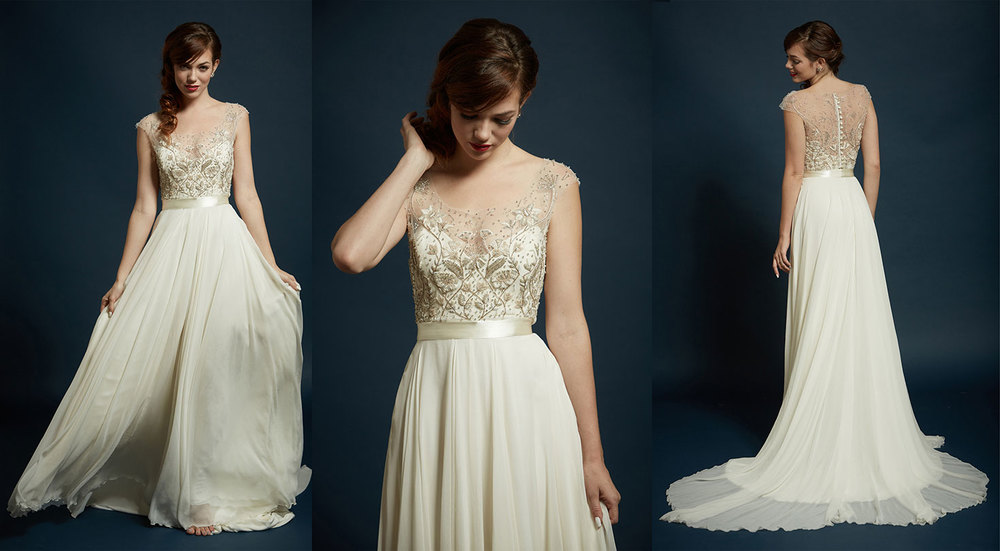 Stearling-Sage Gown