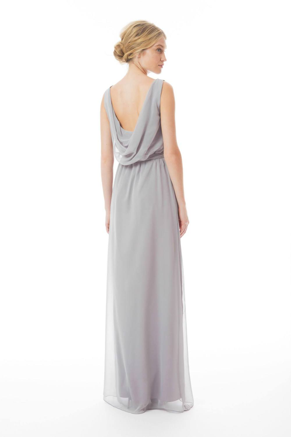 grey chiffon bridesmaid dress joanna august ct