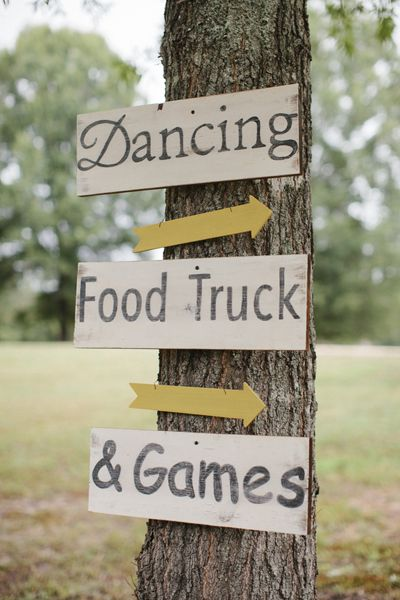which way to fun? photo via  southern weddings