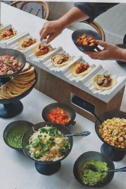 Hola - taco bar! photo via  my wedding reception ideas