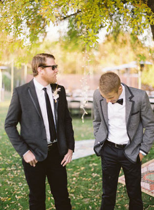 Groom Image by Ben Christensen via Green Wedding Shoes