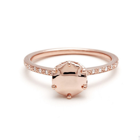 Hazeline Solitaire Ring by Anna Sheffield