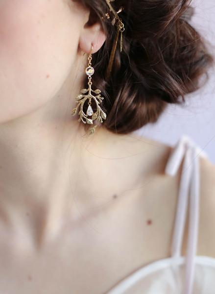 Gilded Garden Earring