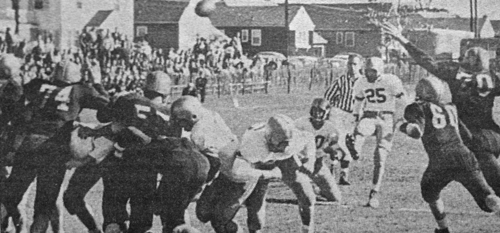 The 1955 OHS football team shut out four teams during its 8-0 season. (Courtesy: OHS Spindrift 1956)