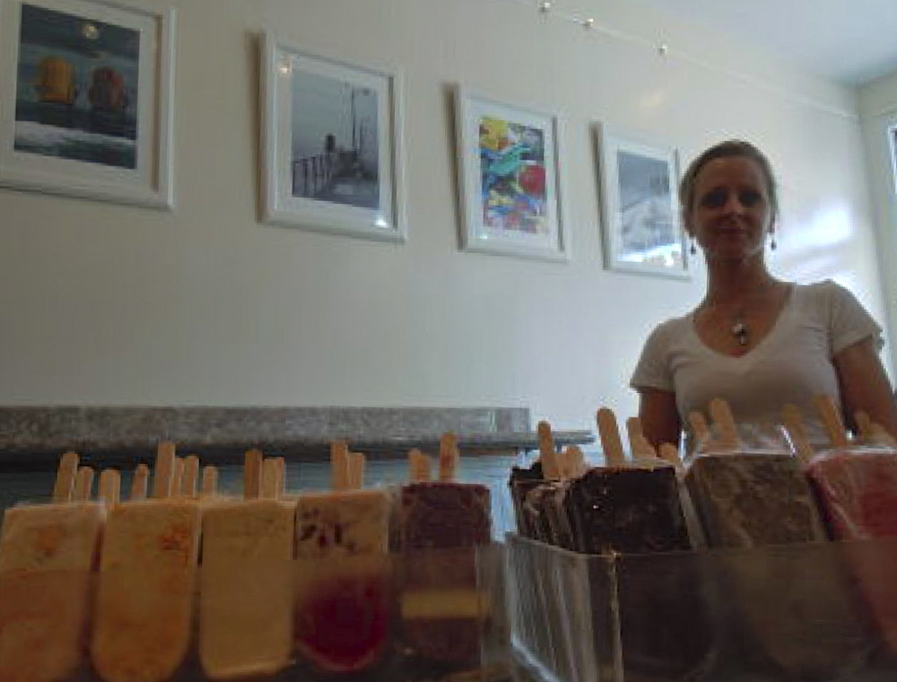 Photographers and artists displayed their work in Aline Strobl's Popztarz, an ice cream shop in the West End. (Photo: Joseph Kellard)
