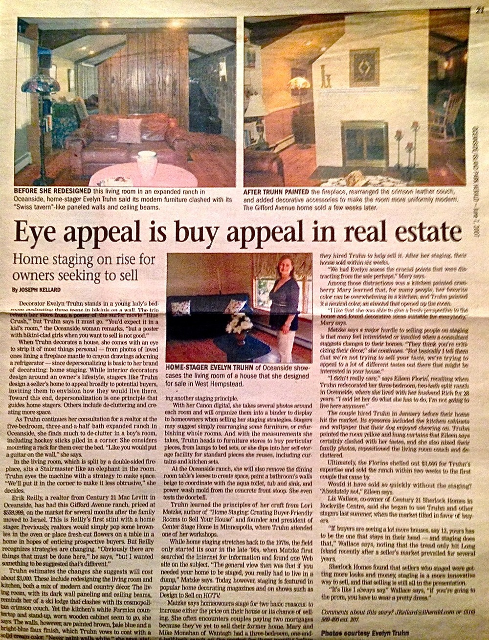This story on homestager Evelyn Truhn originally appeared in the Oceanside/Island Park Herald in 2007.