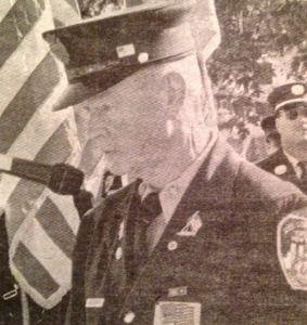Bob Beckwith at a 9/11 memorial in Oceanside NY. (Credit: Herald)