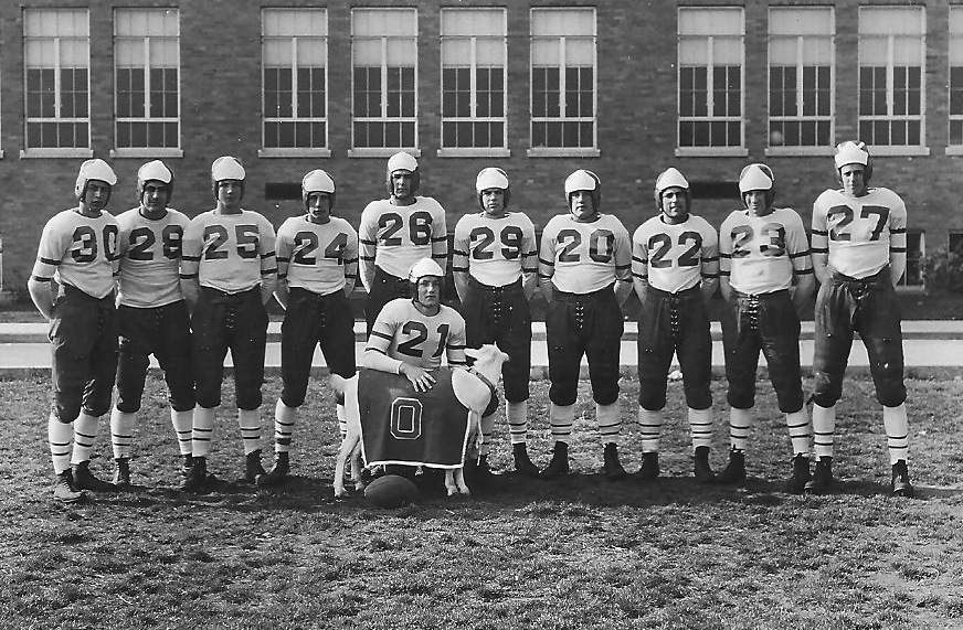 Oceanside High School's first perfect team was the 1938 football squad. (Credit: Richard Woods)