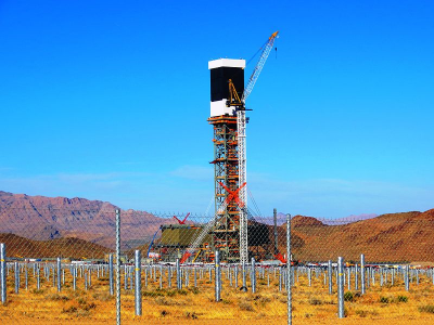 The Ivanpah Solar Electric Generating System in the Mojave Desert. (Credit: Wikicommons)
