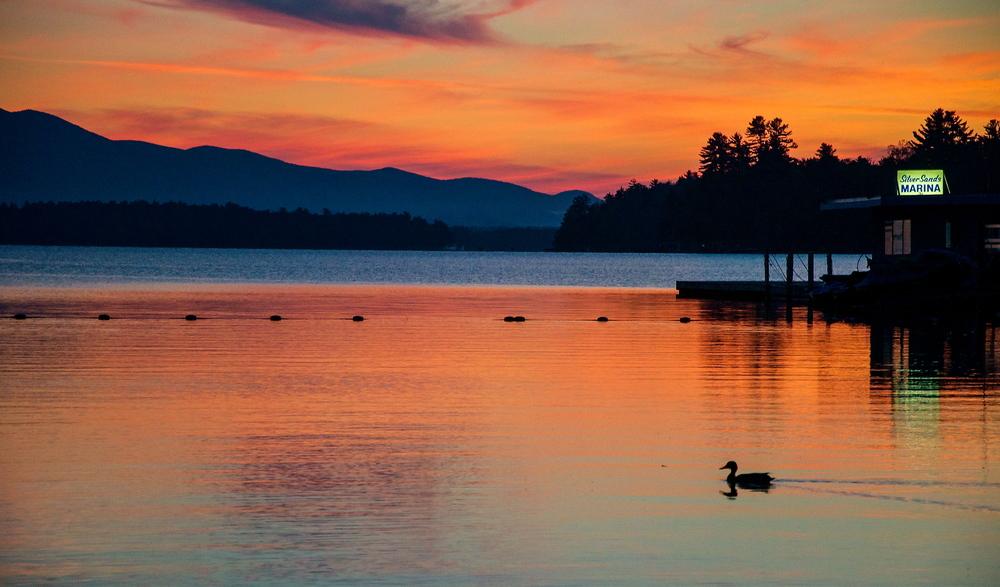 Dawn at Lake Winnipesaukee, New Hampshire. (Photo: Joseph Kellard)