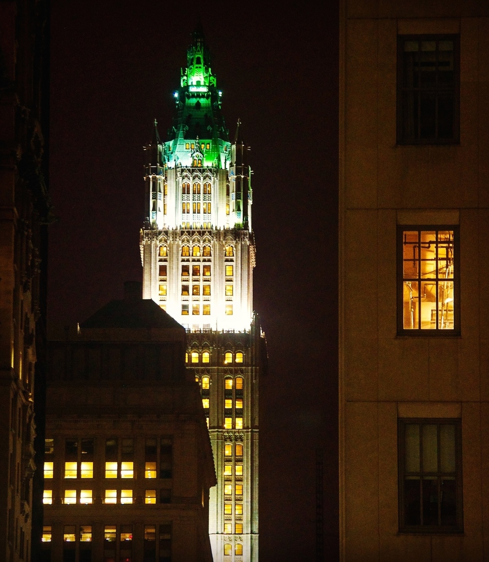 The Woolworth Building as seen from Broadway looking north. (Photo: Joseph Kellard)