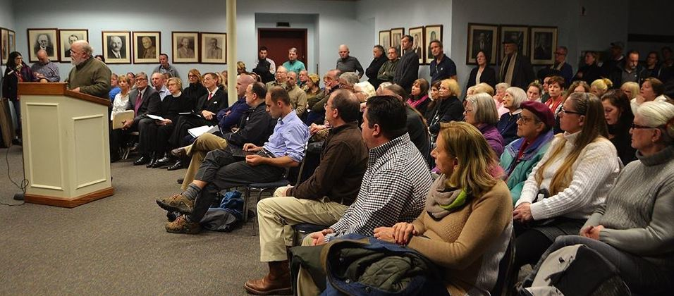 Babylon residents voiced their opposition and support for a proposed soup kitchen at a local church during a recent meeting of the village's Zoning Board of Appeals. (Photo courtesy of Flo Siemsen)
