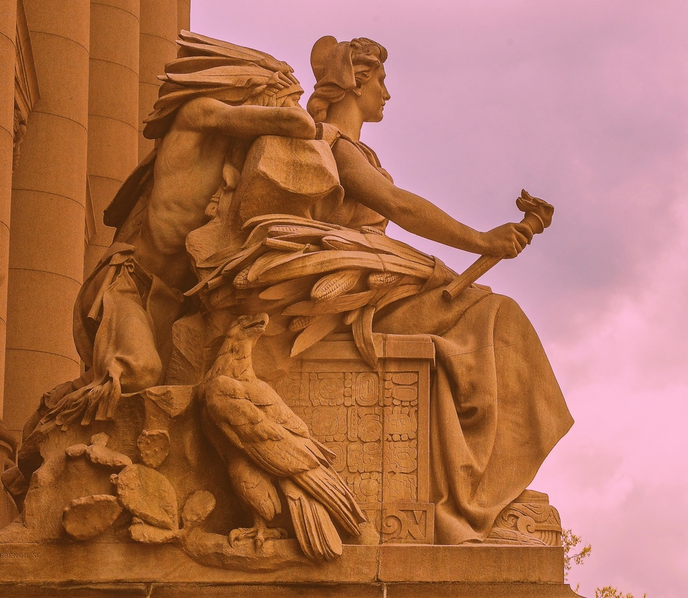 America  is one of four sculptures that comprise  The Continents,  by Daniel Chester French., located in lower Manhattan. (Photo: Joseph Kellard)
