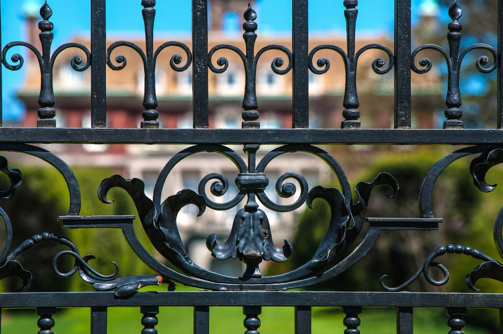 A wrought iron gate at Old Westbury Garden. (Photo: Joseph Kellard)