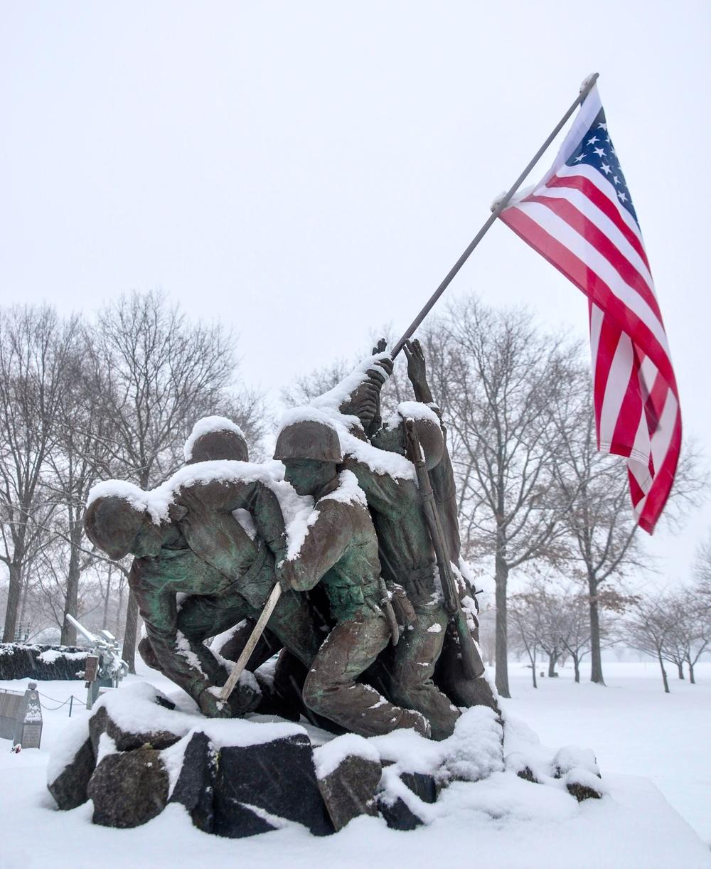 Iwo Jima Memorial_Eisenhower Park_snow_2.15.16_ Photo © 2016 Joseph Kellard:kellardmedia.com.jpg