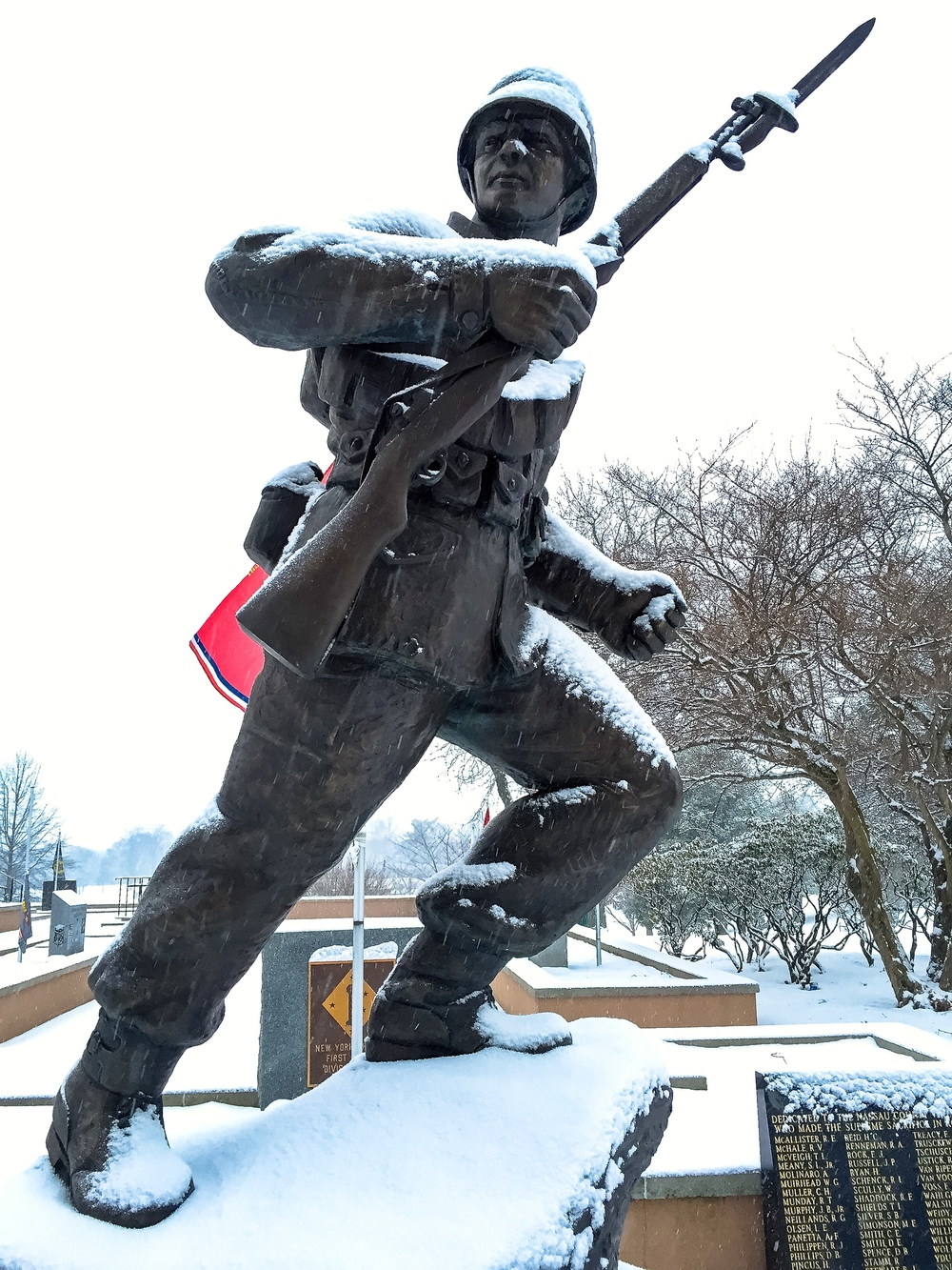 Korean War Monument_Eisenhower Park_snow_2.15.16_Photo © 2016 Joseph Kellard:kellardmedia.com .jpg