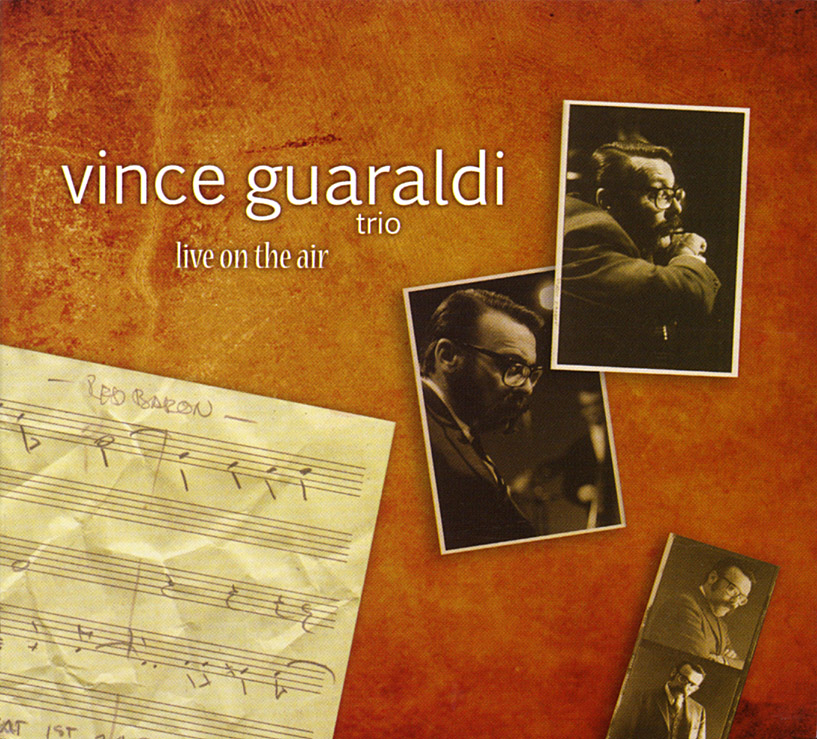 "Vince Guaraldi Trio - Live On The Air  Release Date: November 14, 2008 Label: D&D  SERVICE: Transfer, Restoration SOURCE MATERIAL: 1/4"" Tapes GENRE: Jazz NUMBER OF DISCS: 2 FORMAT: CD"