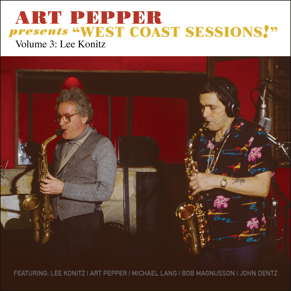"Art Pepper -   Art Pepper Presents ""West Coast Sessions!"" Volume 3: Lee Konitz  Release Date: June 30, 2017 Label: Omnivore Recordings  SERVICE: Restoration, Mastering NUMBER OF DISCS: 1 GENRE: Jazz FORMAT: CD"