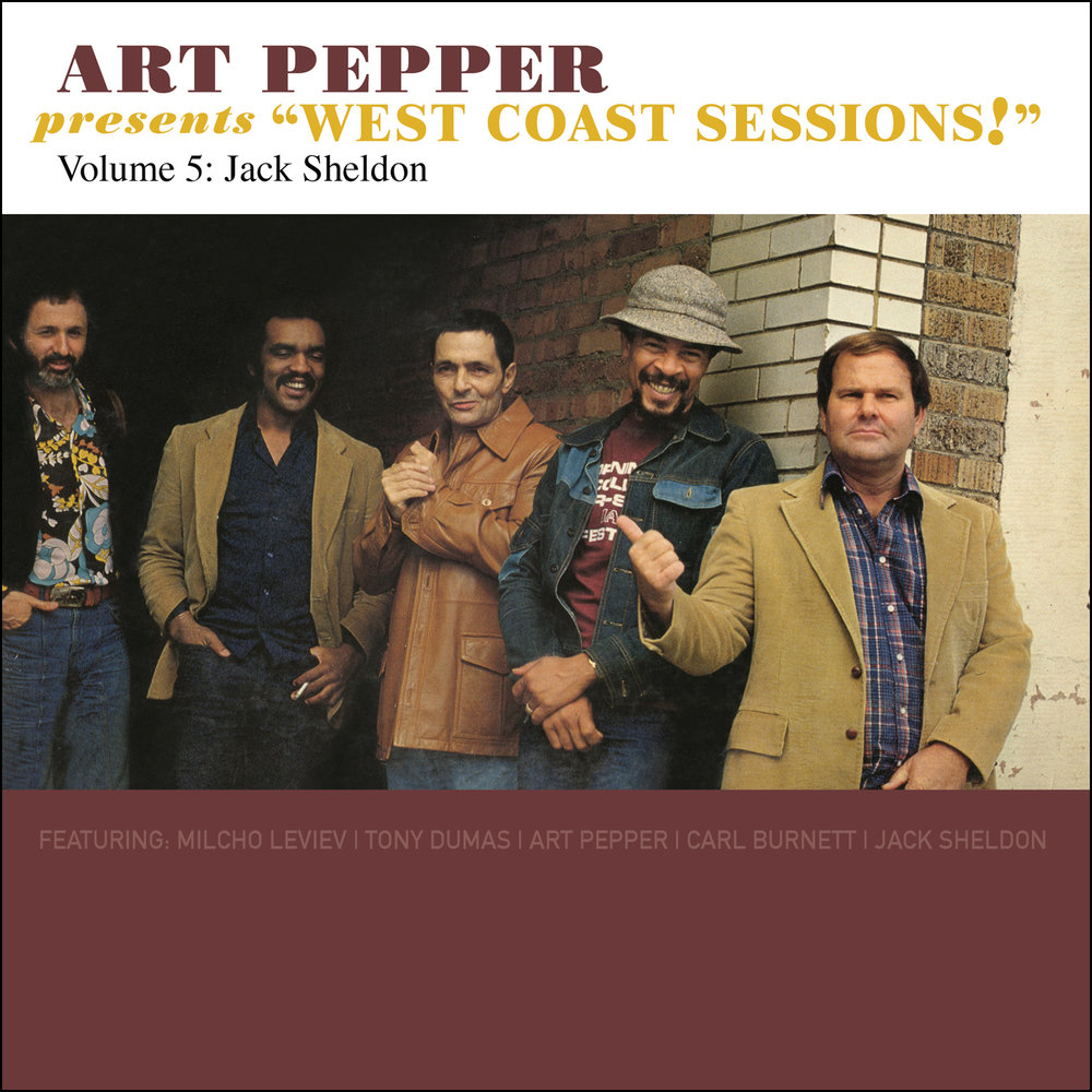 "Art Pepper -   Art Pepper Presents ""West Coast Sessions!"" Volume 5: Jack Sheldon  Release Date: September 29, 2017 Label: Omnivore Recordings  SERVICE: Restoration, Mastering NUMBER OF DISCS: 1 GENRE: Jazz FORMAT: CD"