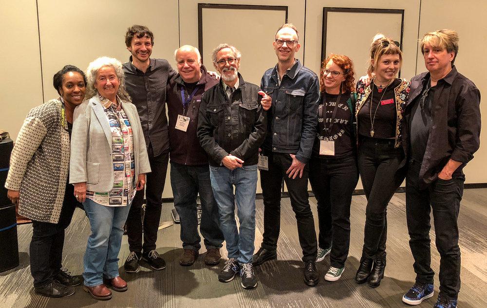 (L-R) Summer McCoy, Nora Guthrie, Gotye, Jamie Howarth, Steve Rosenthal, Michael Graves, Jessica Thompson, Rebecca Feynberg, Stephen Massucci