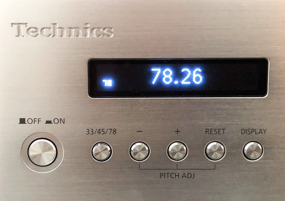 Technics SP-10R power supply controls