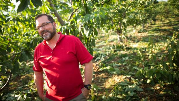 David Geen, Jealous Fruits owner, in his orchard
