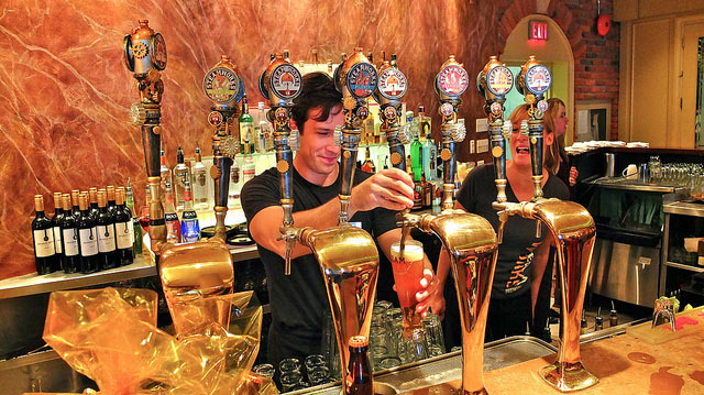 Crafted tap handles became a showstopper in bars around the city