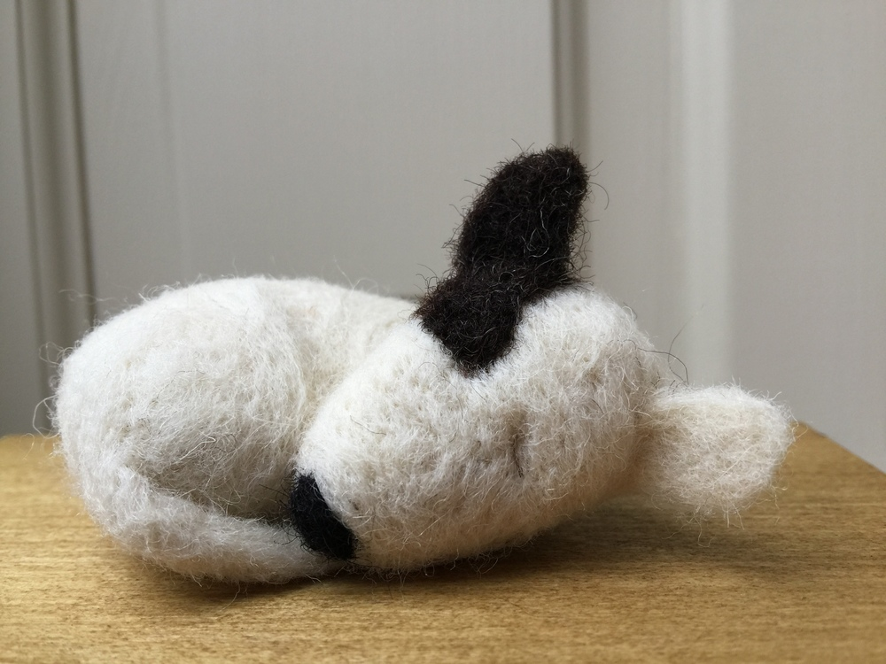 Sleeping needle felted dogs : in a selection of colours, breeds & sizes.