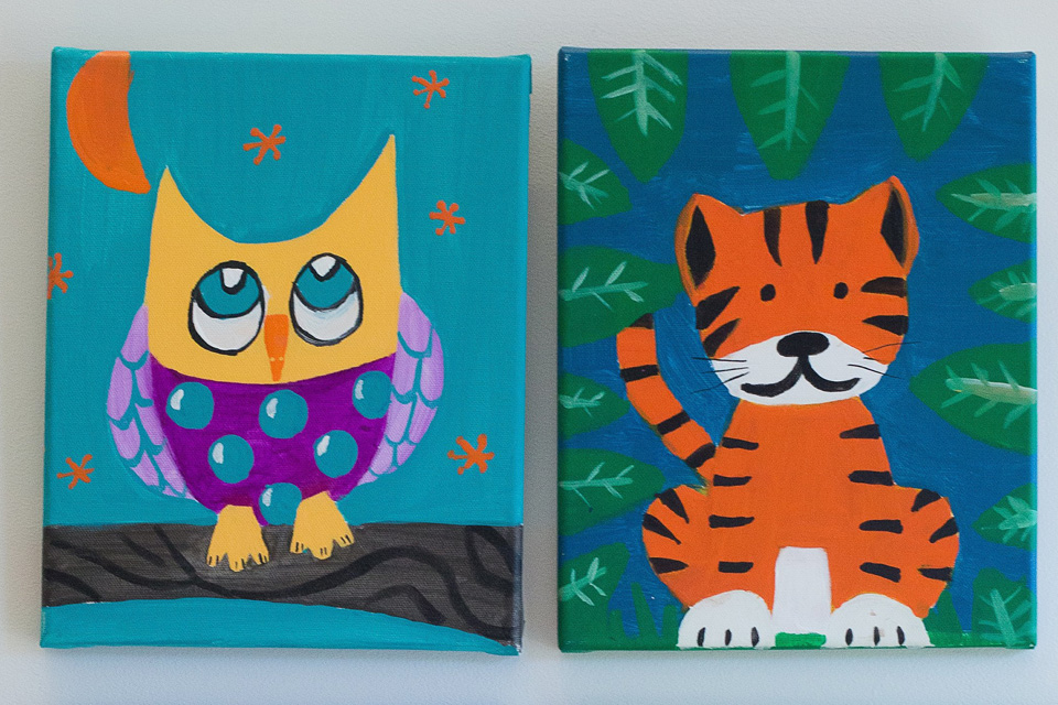 Party Like A Wild Animal This is the party for animal lovers! In art, children will create an animal painting on canvas using acrylic paint. The birthday child will choose the animal: a bold wildcat, playful elephant, graceful seahorse, or clever owl. In yoga, we'll find our inner lion, walk our downward-facing wolf, and hiss like a snake in cobra pose. Recommended ages 6-12.