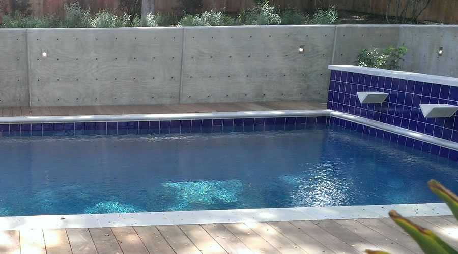 Garden and pool in Fort Worth TX