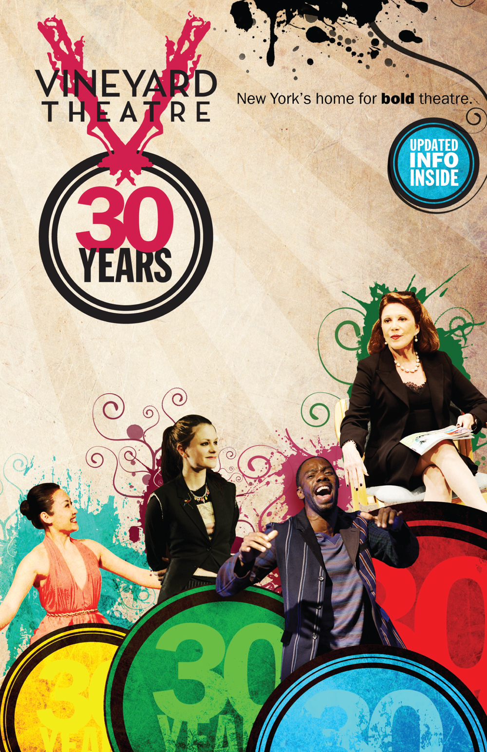 Vineyard Theatre 30th Anniversary brochure cover