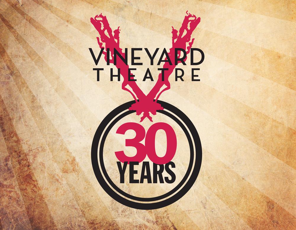 Vineyard Theatre 30th Anniversary logo