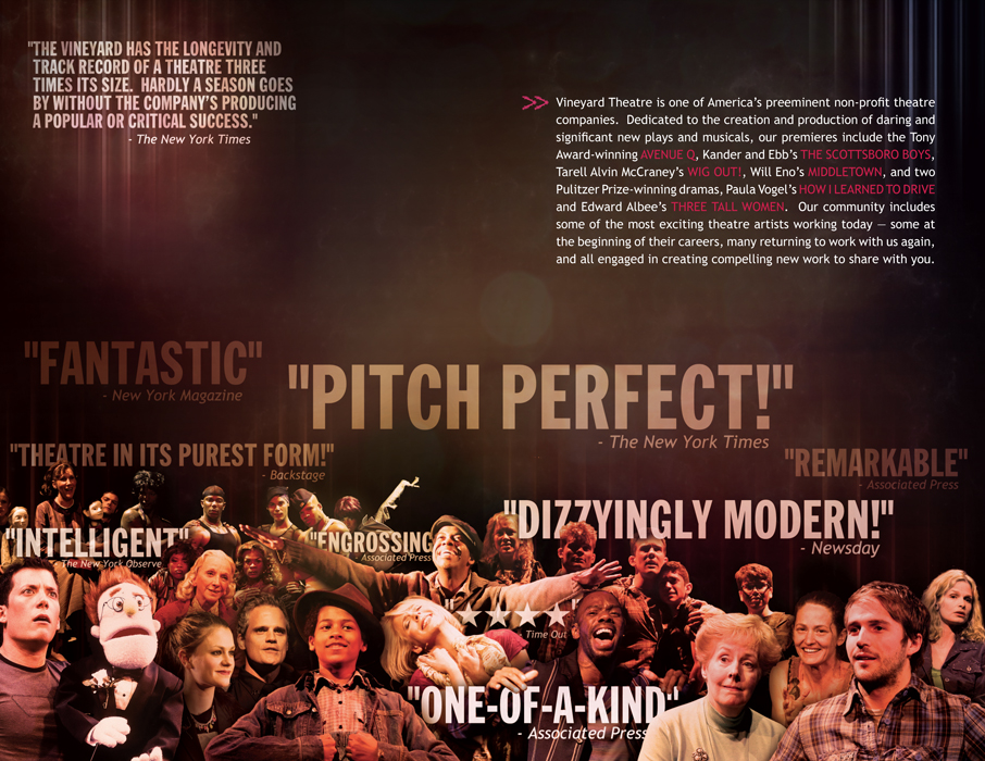 2011-12 Vineyard Theatre season brochure inside
