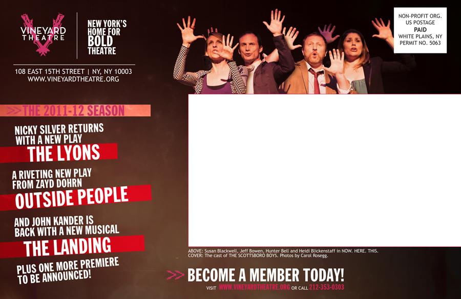 2011-12 Vineyard Theatre season brochure mailing panel