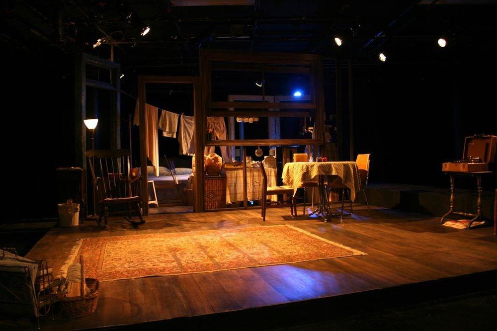 A View from the Bridge-  Pace Univ.  Directed by Ruis Woertendyke; Scenic Design- Sheryl Liu; Lighting Design- Graham Kindred
