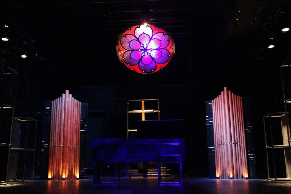 Our Lady of 125th St.-  The Lion at Theatre Row  Directed by Grant Kretchik; Scenic Design- Chris Jensen; Lighting Design- Graham Kindred
