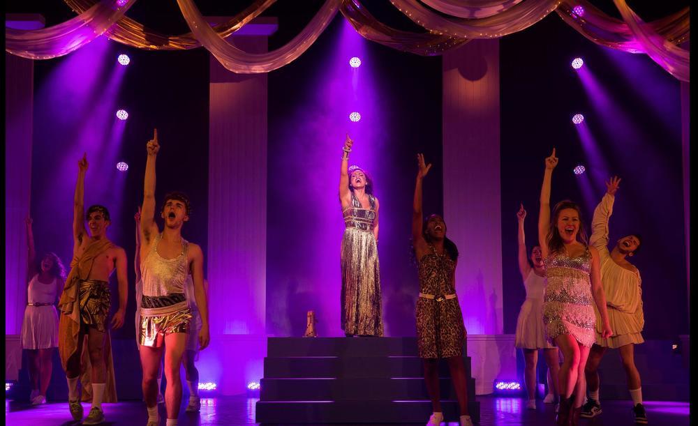 Lysistrata Jones- Pace Univ.  Directed By Jacob Brent; Scenic Design- Sheryl Liu; Lighting Design- Graham Kindred; Costume Design- Sara Jean Tosetti