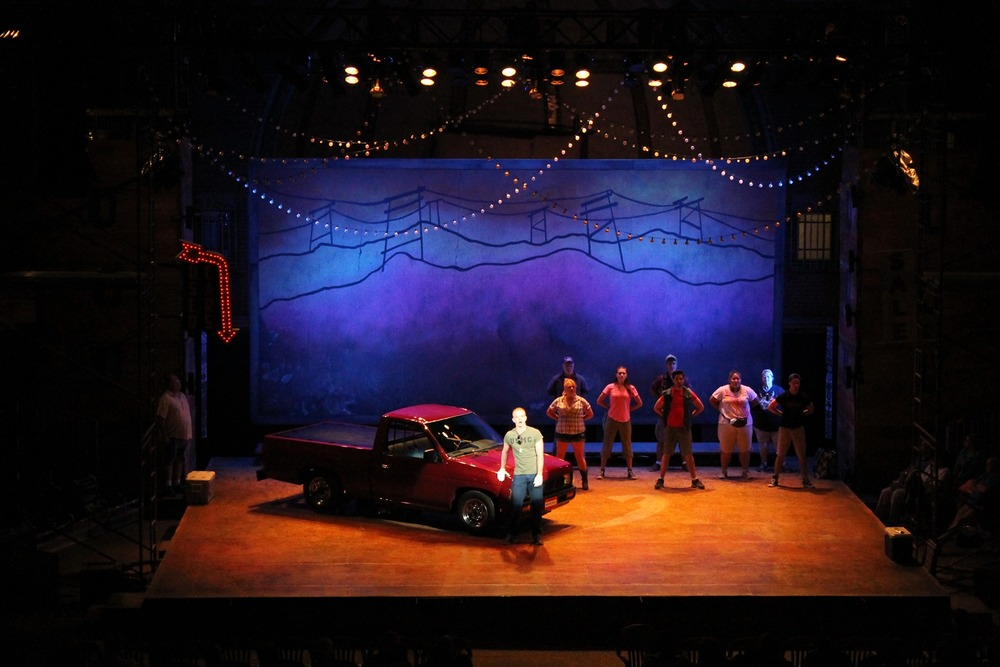 Hands on a Hard Body-  Park Playhouse in Albany  Directed by Michael Lo Porto; Scenic Design- Jeffrey Perri; Lighting Design- Ashley Vellano