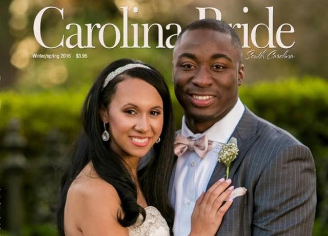 Marcus Lattimore and his wife show support