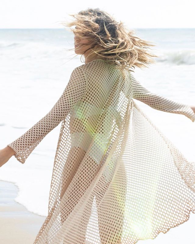 Let's dance by the ocean in the Nerea Cover-up. #SaraCristina