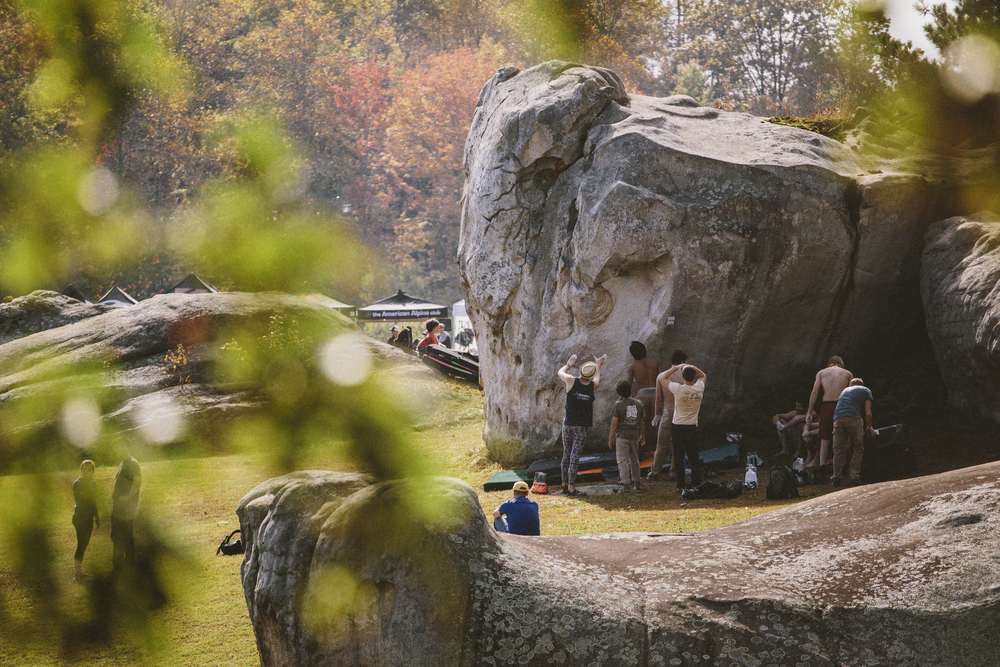 The Triple Crown Bouldering Series at Stone Fort Photo by Dillan Forsey