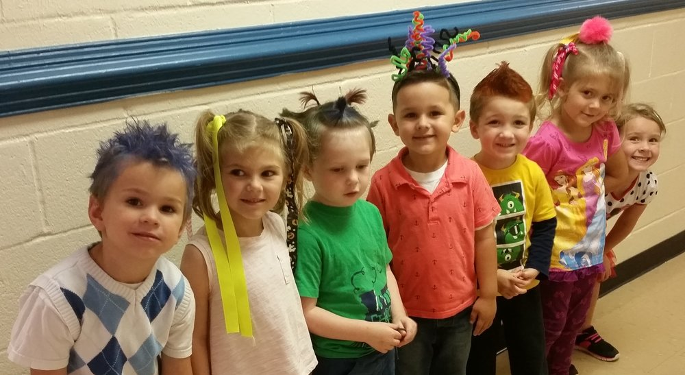 Preschool on Crazy Hair Day