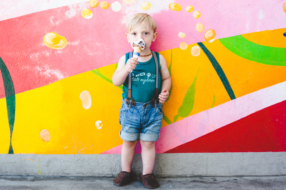AFTER // I love this punch of color! [and this cute little boy, of course.] Preset: Charlotte