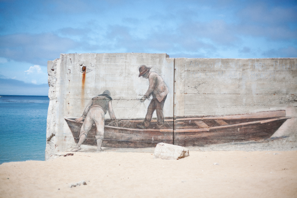 monterey beach mural