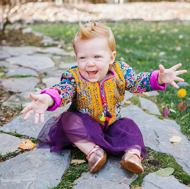 Imogene Joy. She sure does live up to her name. Her birth ushered in gratitude, peace, love & joy into our home. She continues to fill our hearts with so much sweetness.  Her ginger hair and blue eyes.....melt us every single day.  We celebrated her 1st birthday last Saturday. Gosh, time sure passes us quickly.  Savoring this season.....even though it's a bit crazy. We can't turn our heads without her crawly quickly towards the stairs or pulling everything down in sight. She's a quick one!