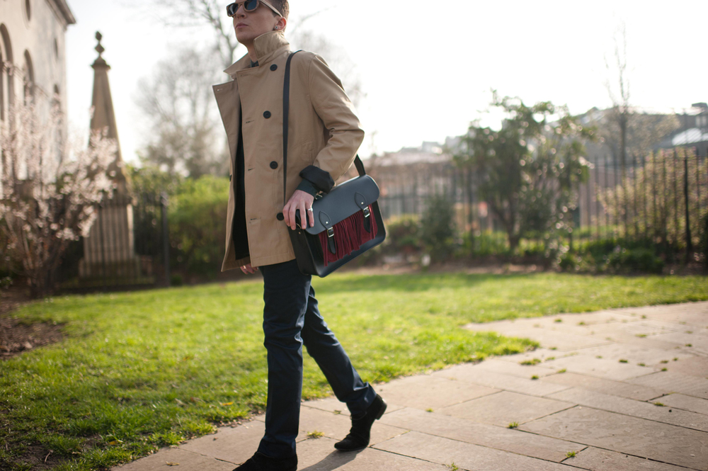 The Satchel with Suede