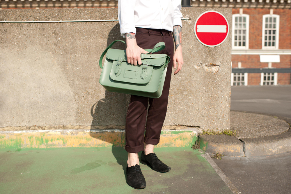 "1  5 ""Brogue Satchel"